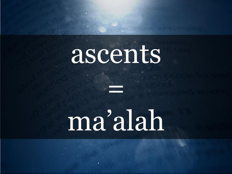 ascents = ma'alah