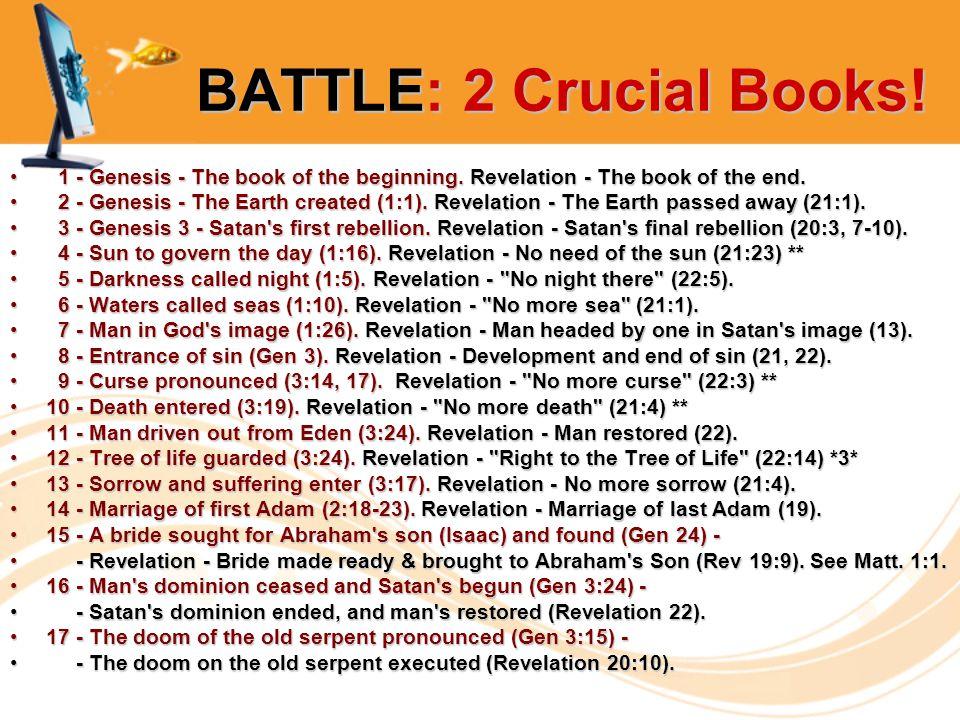 BATTLE: 2 Crucial Books. BATTLE: 2 Crucial Books.