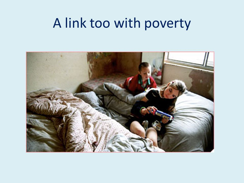 A link too with poverty