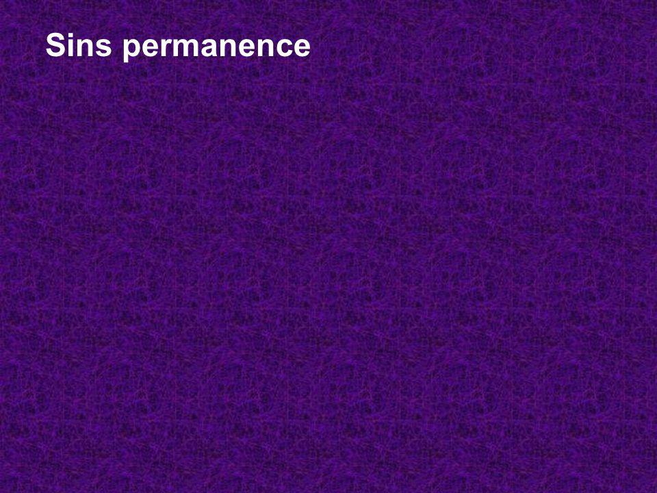 Sins permanence