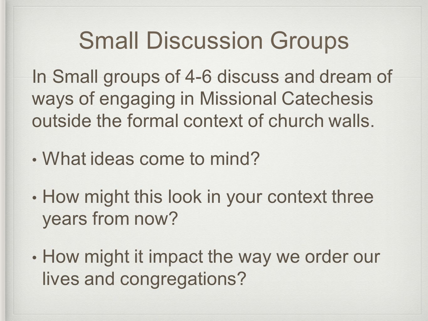 Linking Catechesis to Liturgy Anglican Context: catechesis is always tied to liturgy (lex orandi, lex credendi, lex vivendi) Cranmer's vision of Christian England – Catechesis tied liturgy as the work of the Church (teaching disciples to obey and to worship God in Christ) Well formed & well informed worshippers (worshipping with lips and lives…)