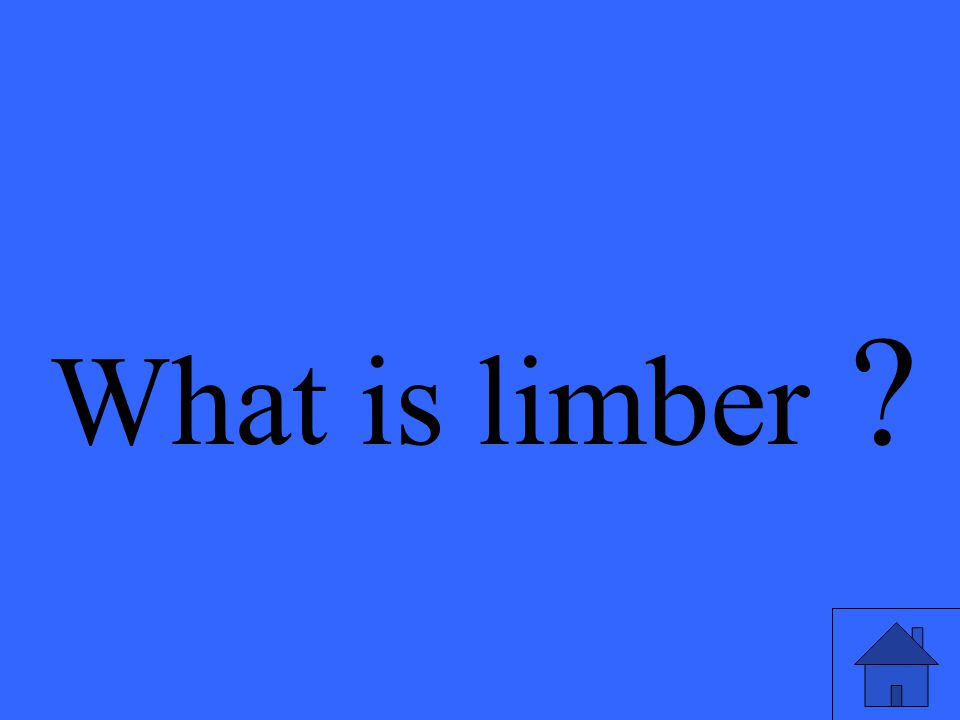 What is limber ?