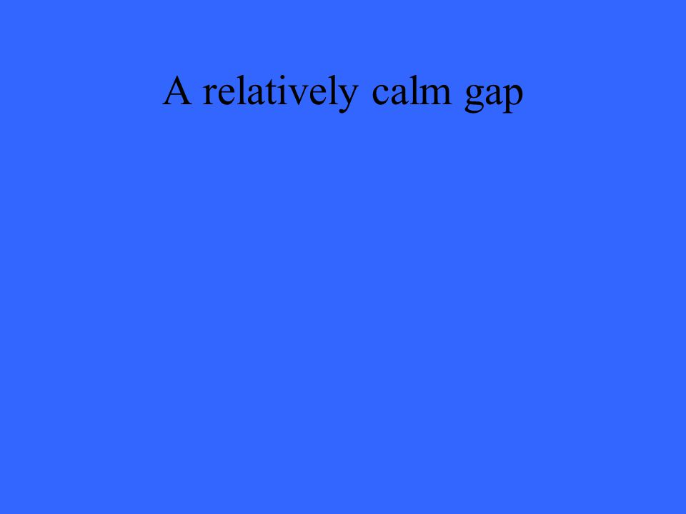 A relatively calm gap