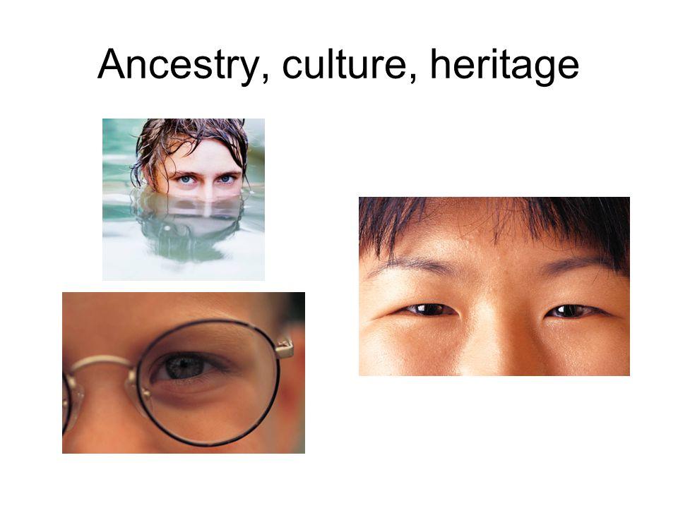 Ancestry, culture, heritage