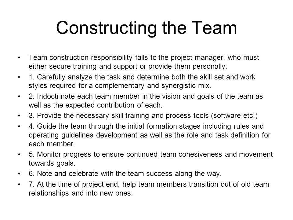 Level A: The Design Project managers who can select and construct teams that are effective and that run smoothly are highly valued in industry.
