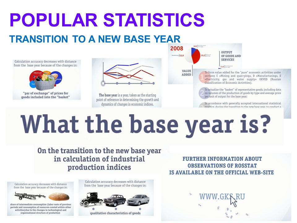 2 POPULAR STATISTICS TRANSITION TO A NEW BASE YEAR