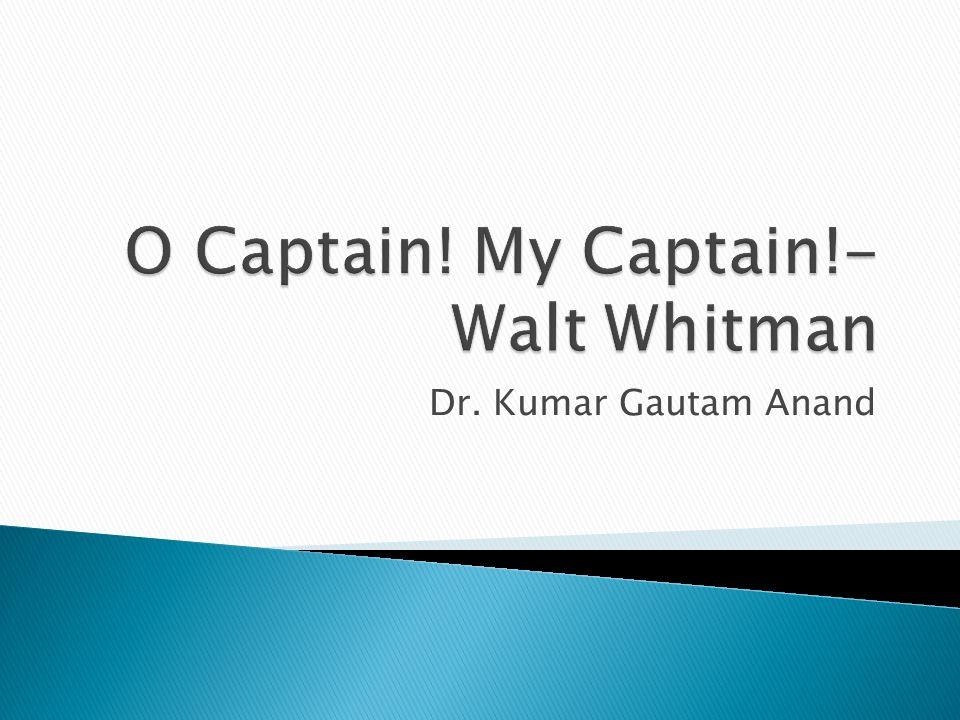 Dr. Kumar Gautam Anand