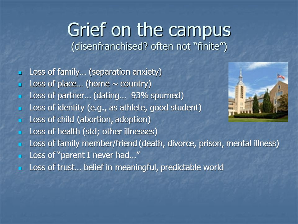 Grief on the campus (disenfranchised.