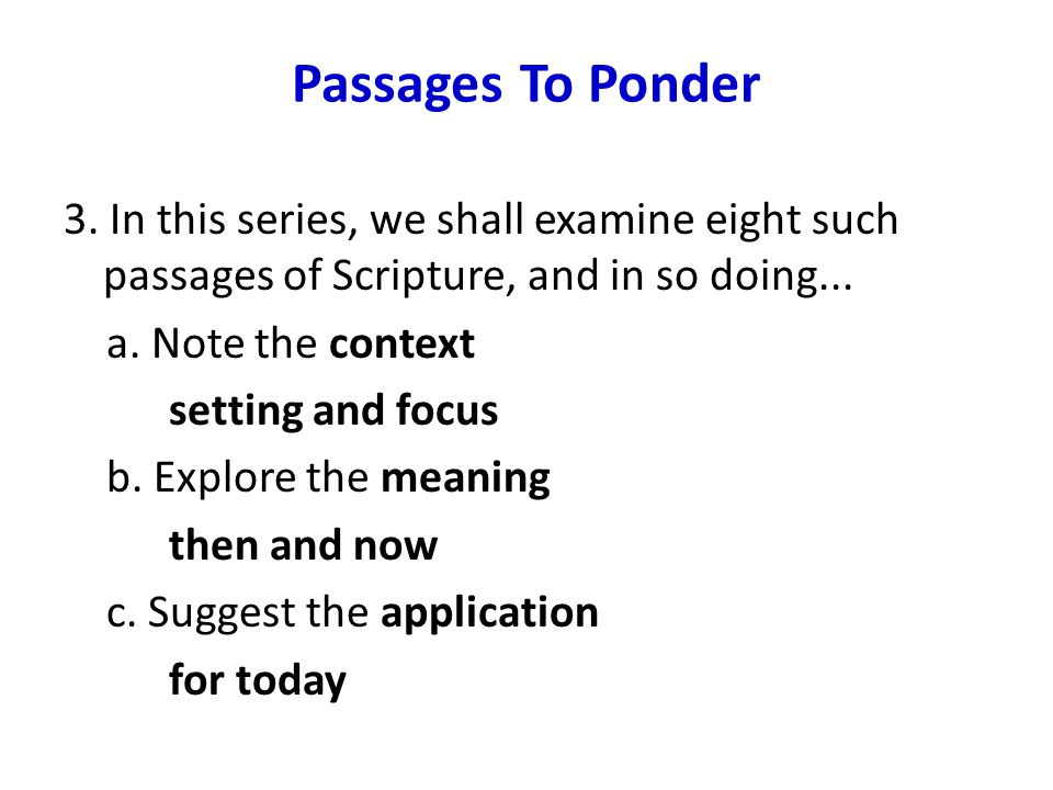 Conclusion 2.The Beatitudes Of The Kingdom is a worthy passage of Scripture...
