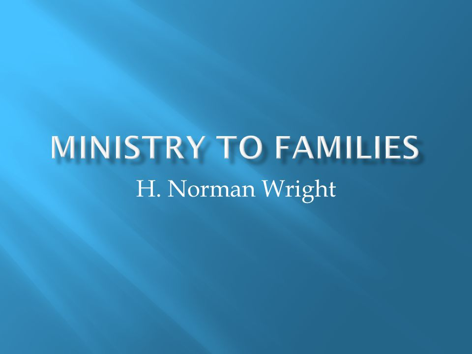 H. Norman Wright