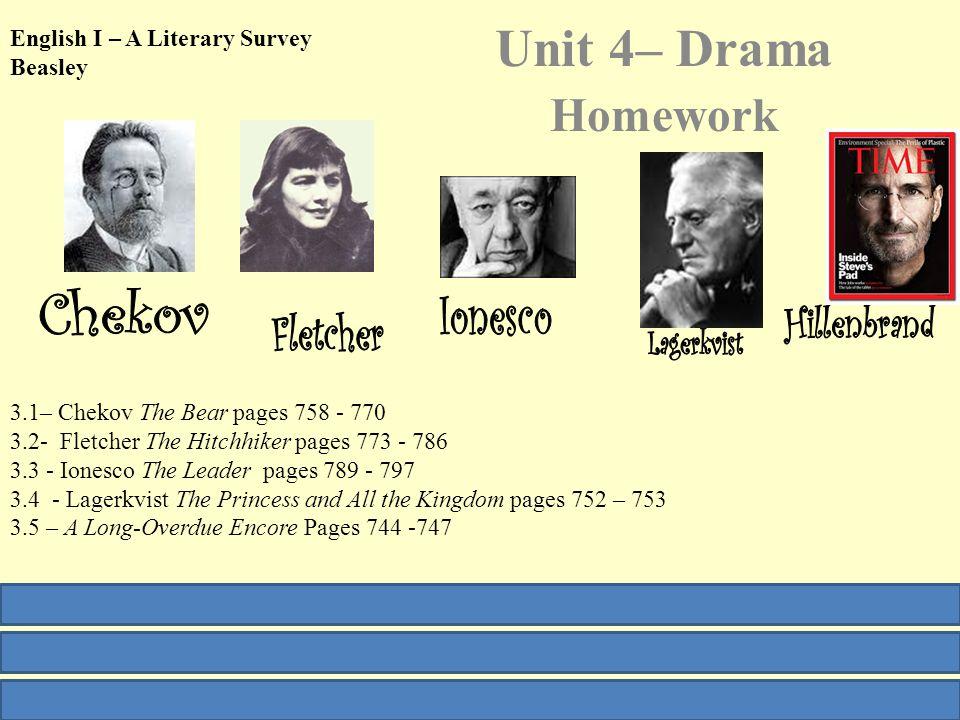 English I Reading Unit – Drama and Fable Weeks 16-18