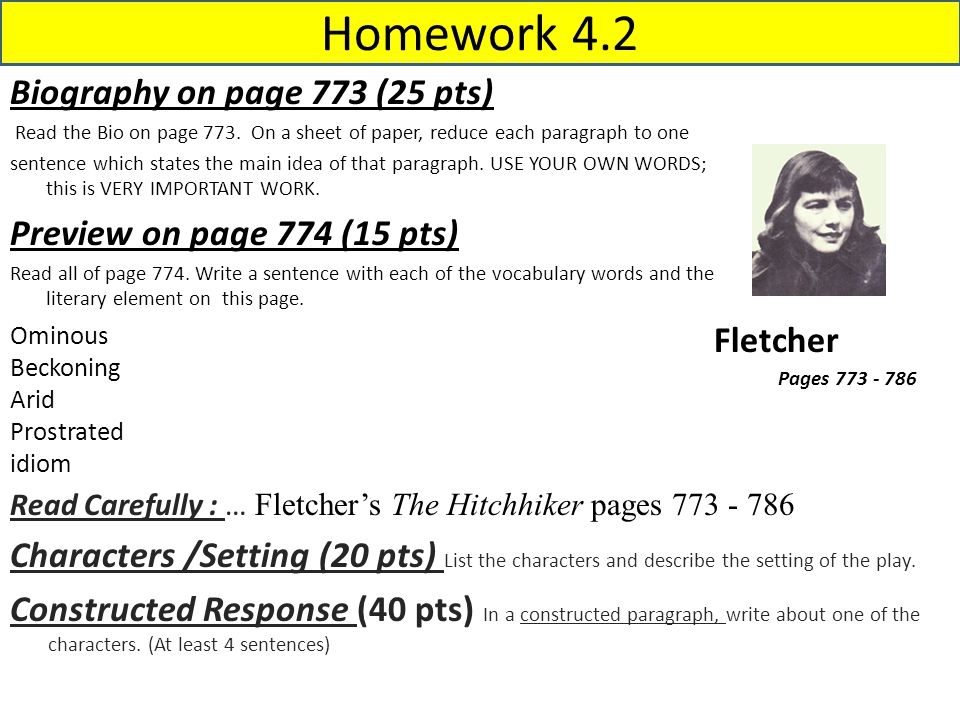 Homework 4.3 Biography on page 789 (25 pts) Read the Bio on page 789.