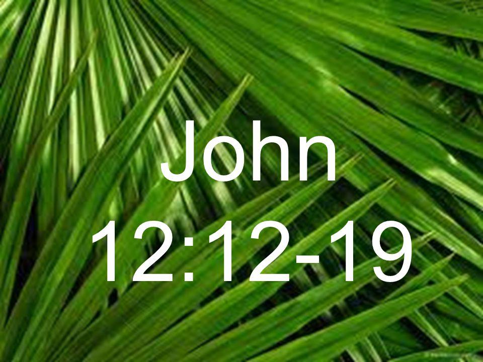 John 12:12-19