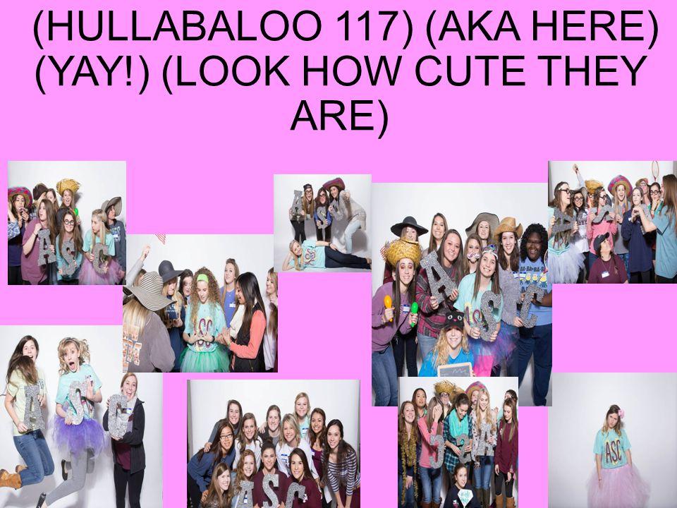 NEW GIRL MEETING at 8:20 (HULLABALOO 117) (AKA HERE) (YAY!) (LOOK HOW CUTE THEY ARE)