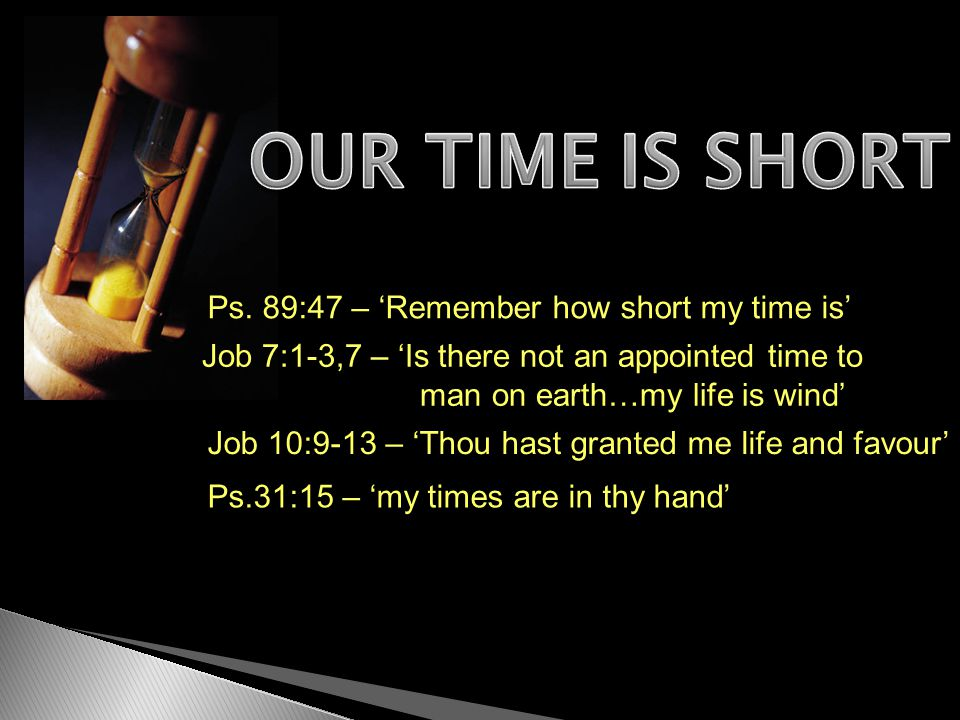 PROACTIVE SPIRITUAL TIME MANAGEMENT 1.Discover Your Purpose 2.Prioritize Systematically 3.Act it Out – Invite Others In 'Be instant, in season, out of season' II Tim.4:2