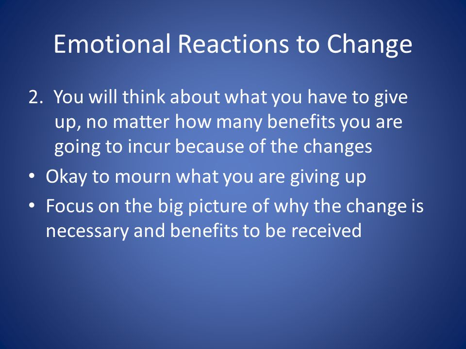 Emotional Reactions to Change 2.