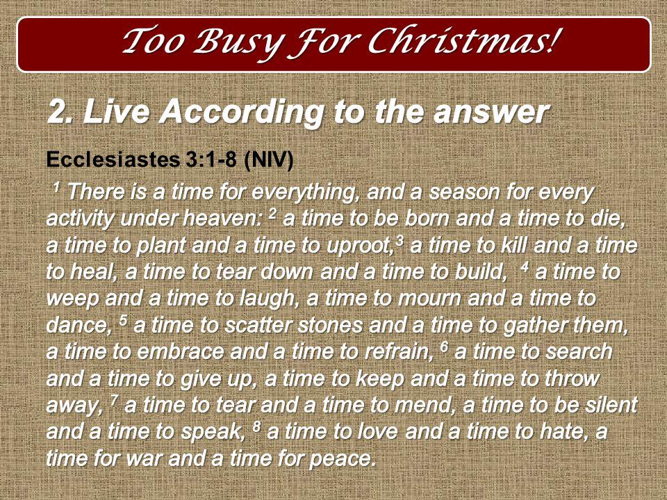 3.Set Godly priorities 4.