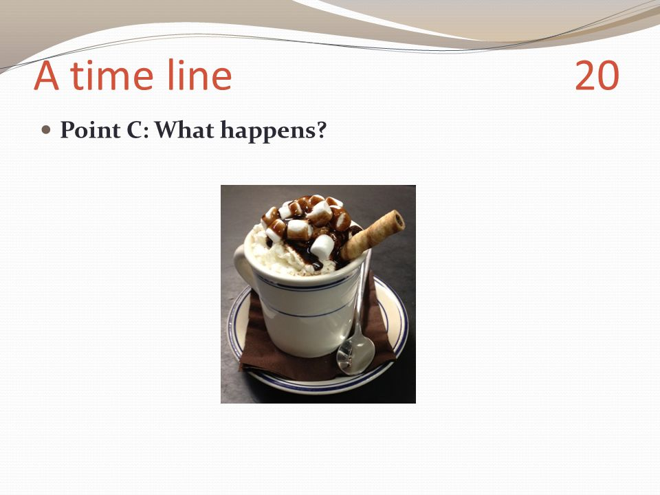 A time line 20 Point C: What happens