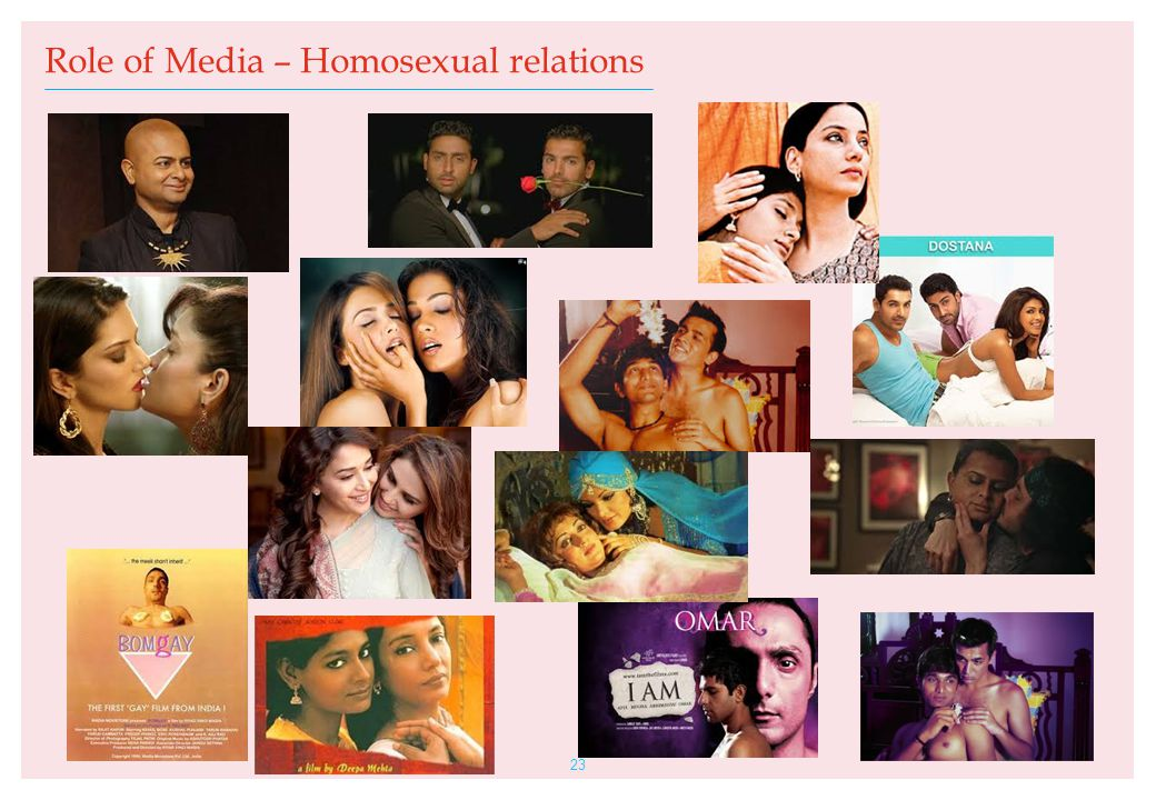 23 Role of Media – Homosexual relations