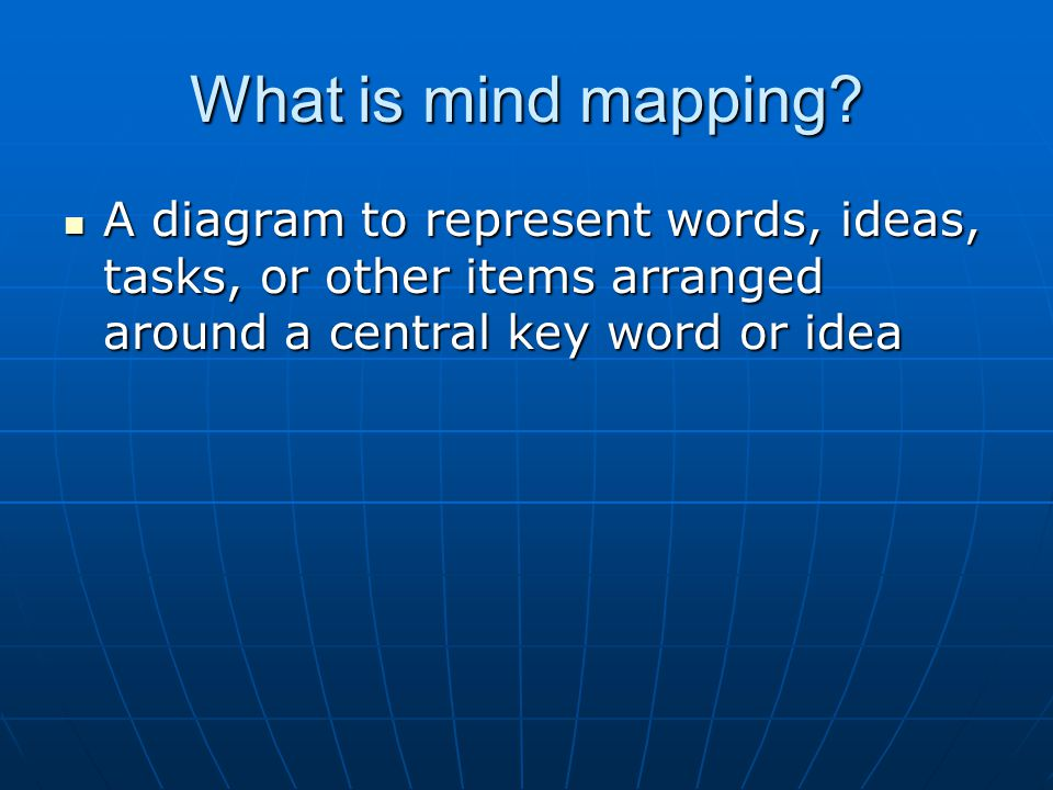 What is mind mapping.