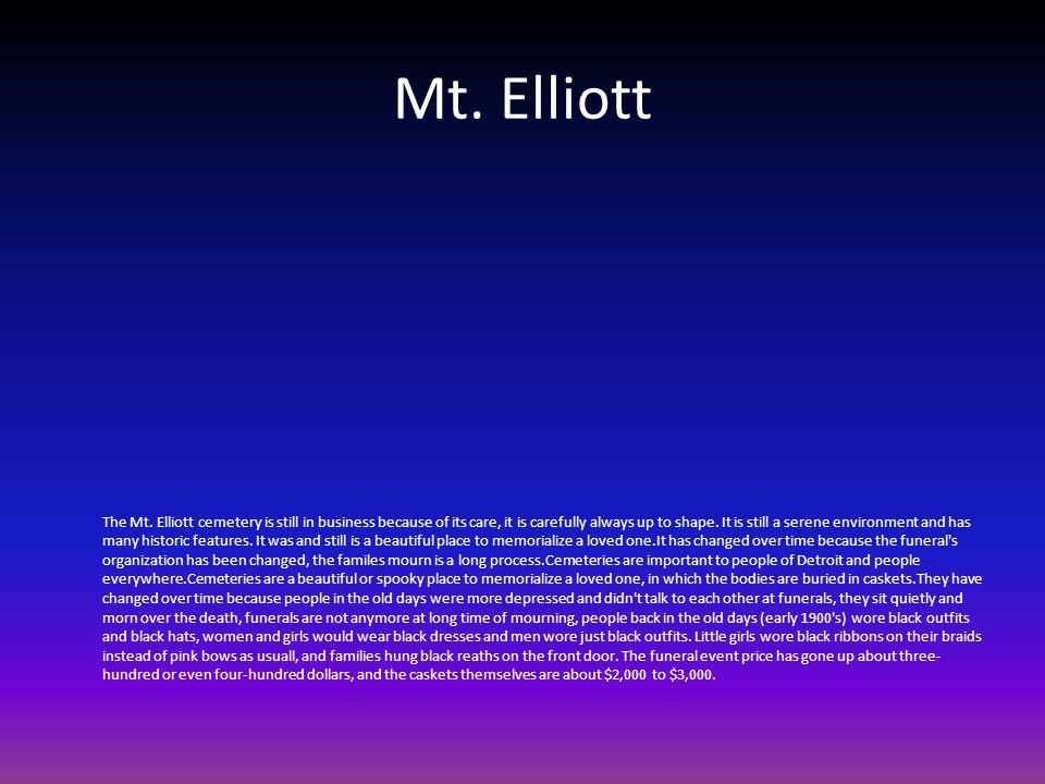 Mt. Elliott The Mt.
