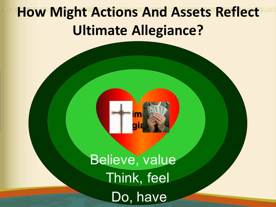 How Might Actions And Assets Reflect Ultimate Allegiance.