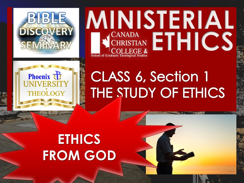 ETHICS FROM GOD
