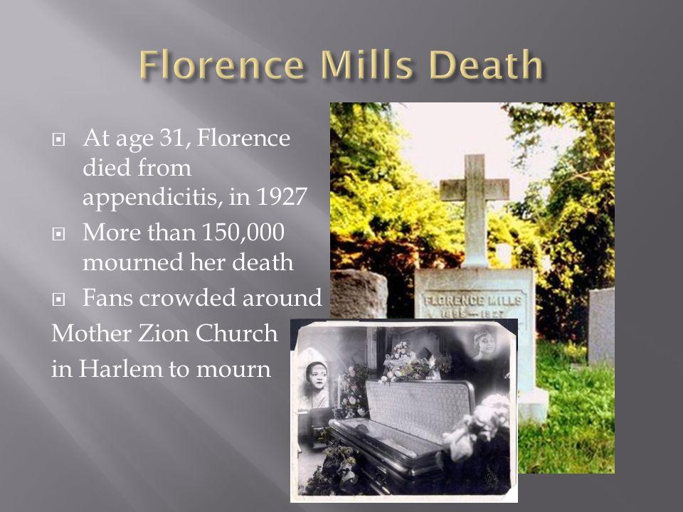  http://www.gallimaufry.info/nowshowing_h arlem.html http://www.gallimaufry.info/nowshowing_h arlem.html  http://www.florencemills.com/friendsandass ociates.htm http://www.florencemills.com/friendsandass ociates.htm  http://www.blackpast.com/?q=aah/mills- florence-1896-1927