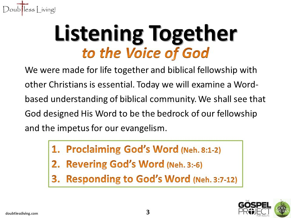 We were made for life together and biblical fellowship with other Christians is essential.