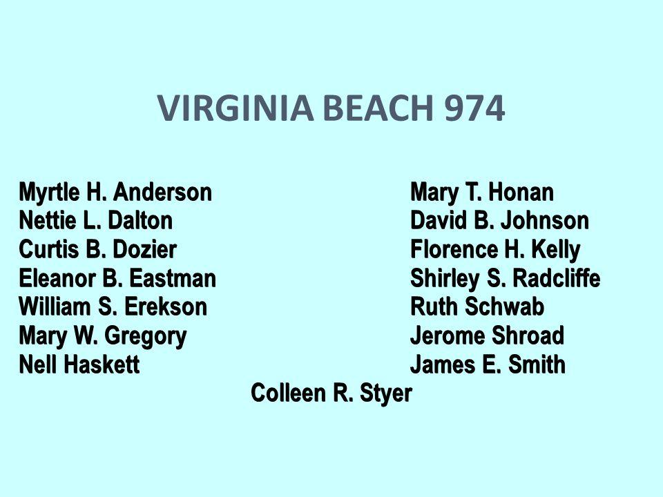 VIRGINIA BEACH 974 Myrtle H. Anderson Mary T. Honan Myrtle H.