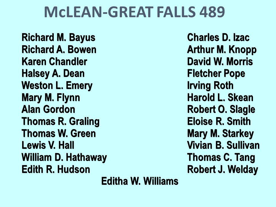 McLEAN-GREAT FALLS 489 Richard M. BayusCharles D.