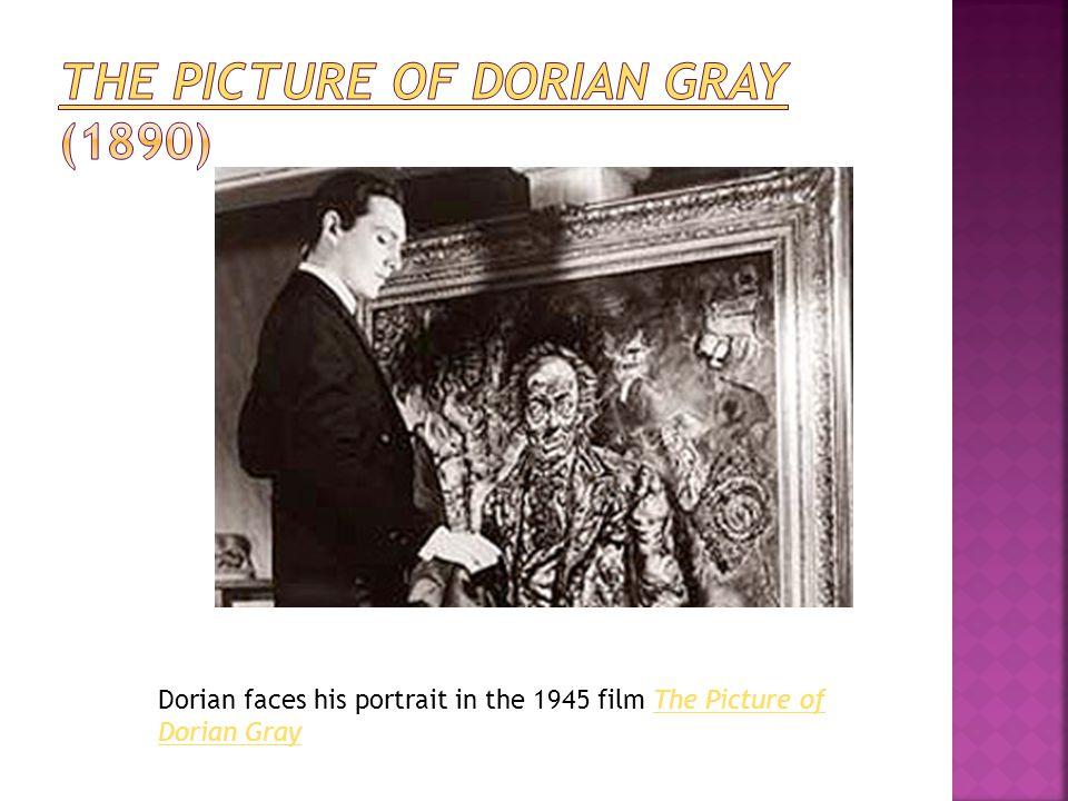 Dorian faces his portrait in the 1945 film The Picture of Dorian GrayThe Picture of Dorian Gray
