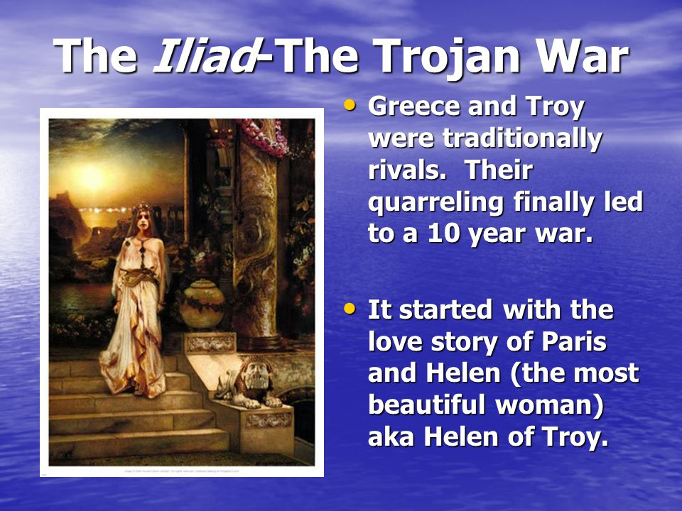 The Iliad The Odyssey, with Odysseus and his men, is the sequel to the Iliad. The Odyssey, with Odysseus and his men, is the sequel to the Iliad. In o