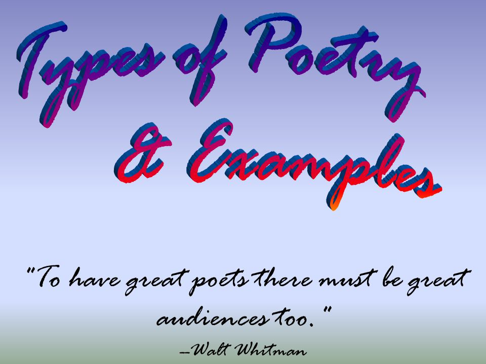 To have great poets there must be great audiences too. --Walt Whitman
