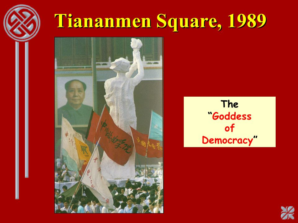 "Tiananmen Square, 1989 The ""Goddess of Democracy"""