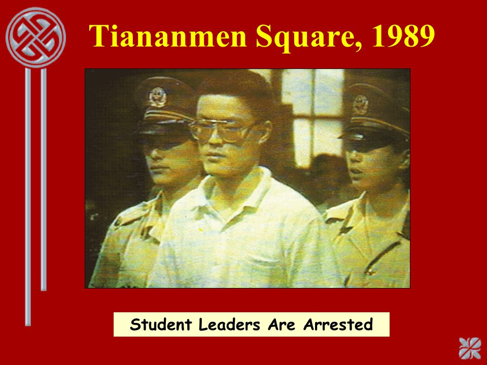 Tiananmen Square, 1989 Student Leaders Are Arrested
