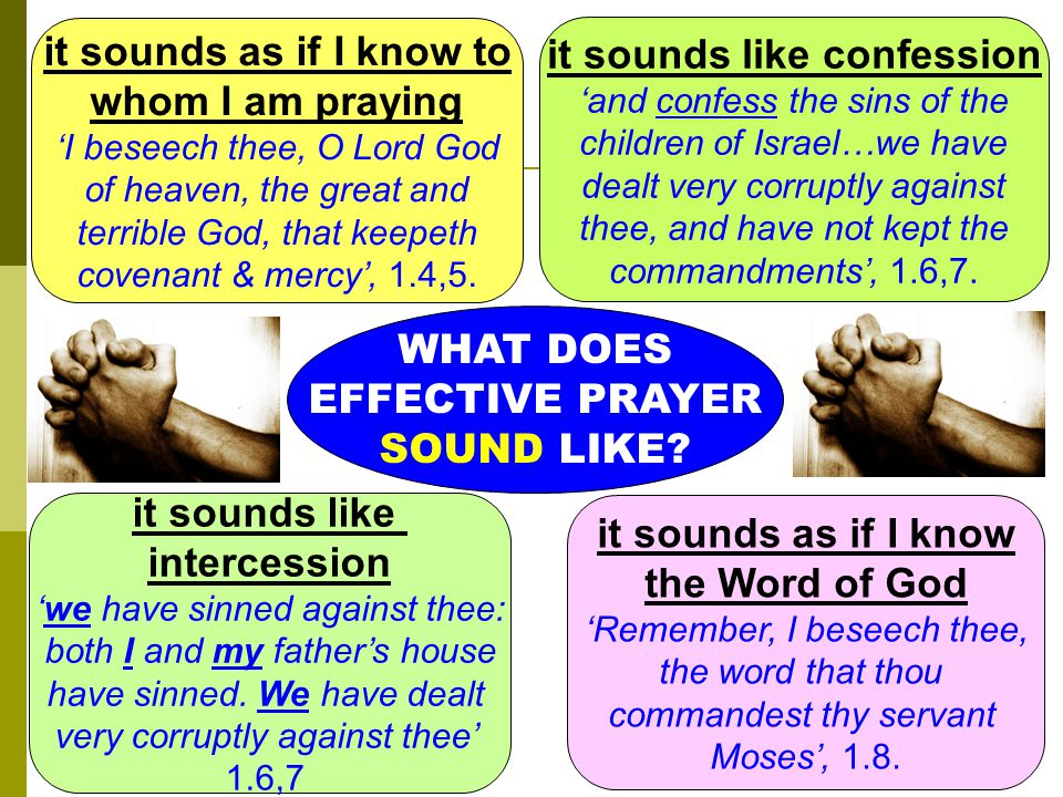 WHAT DOES EFFECTIVE PRAYER SOUND LIKE.