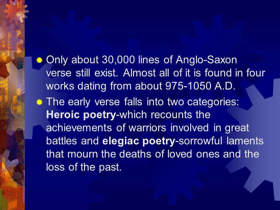TYPES OF ANGLO-SAXON VERSE