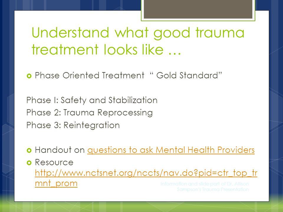 Information and slide part of Dr.