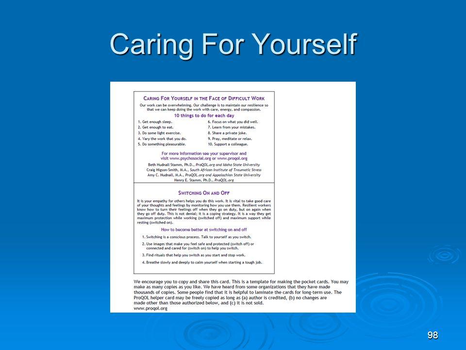 Creating Internal Awareness 99