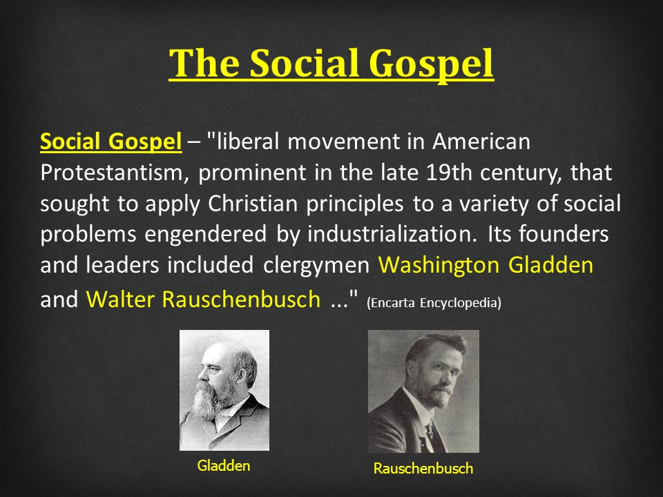 Is the social gospel being promoted in our brotherhood?