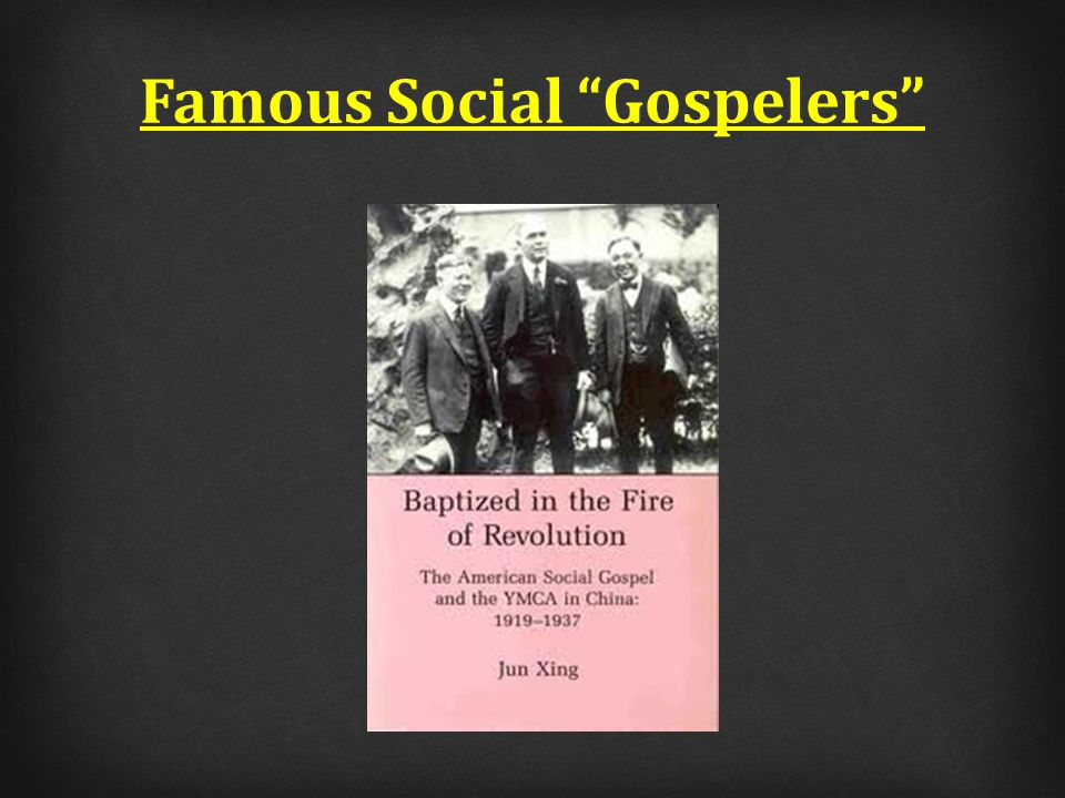 The social gospel: 1)Confuses individual action with church action.