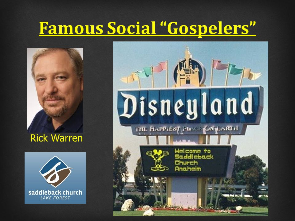 Famous Social Gospelers Rick Warren