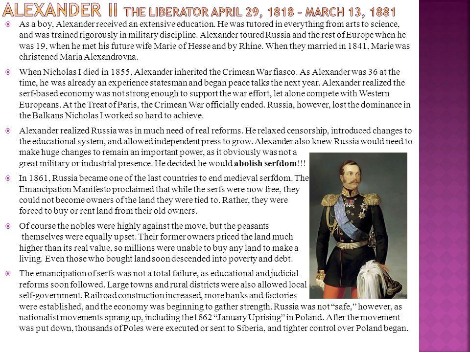  As a boy, Alexander received an extensive education.