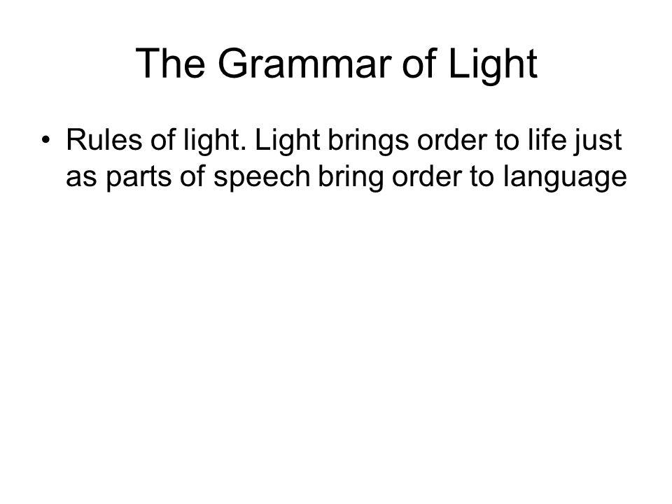 The Grammar of Light Rules of light.