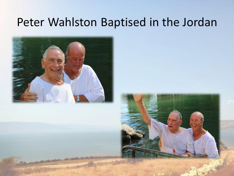 Orit Crombie Baptised in the Jordan