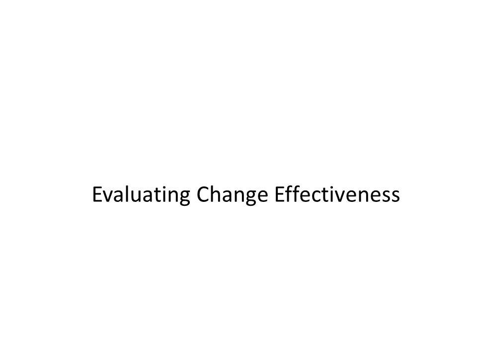 Evaluating Change Effectiveness
