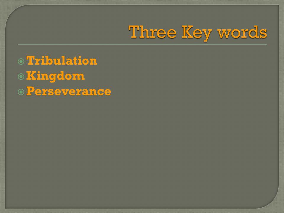  Tribulation  Kingdom  Perseverance