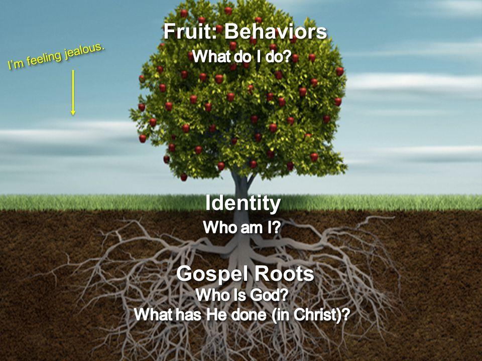 Fruit: Behaviors I'm feeling jealous. IdentityIdentity Gospel Roots