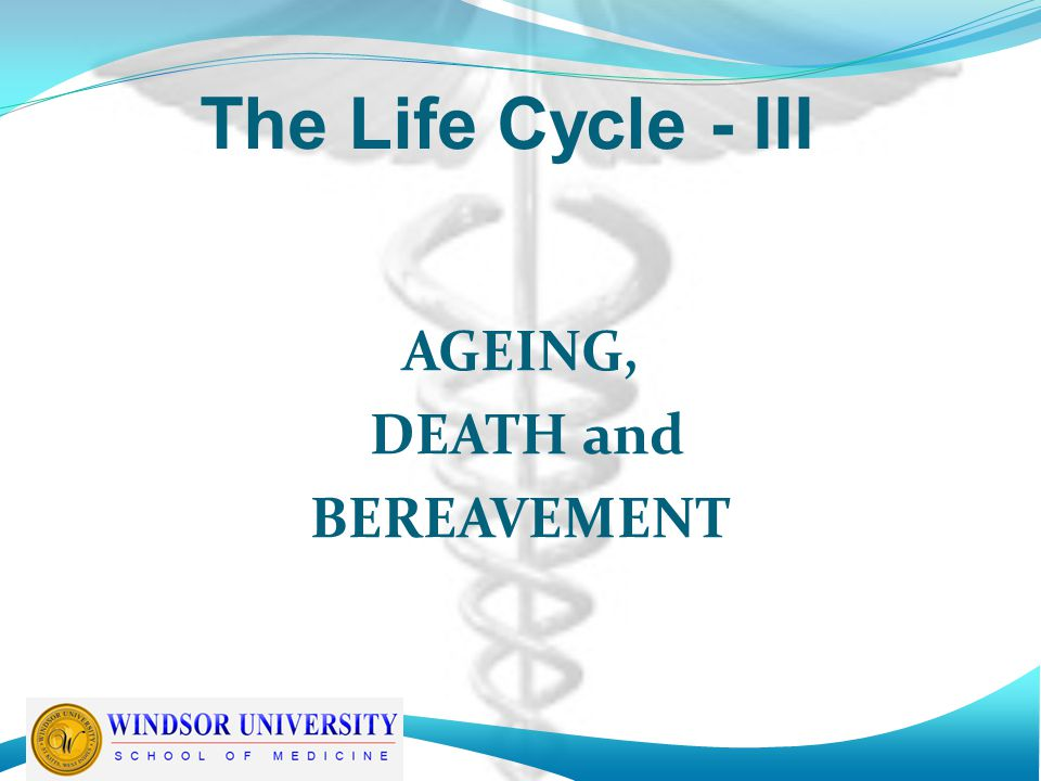 BEREAVEMENT -6 The major mourning period lasts 6-18 months, with most people able to resume usual functioning in less than 6 months In truth, however, the time course of the mourning process is lifelong, but with time memories become less painful and less intrusive